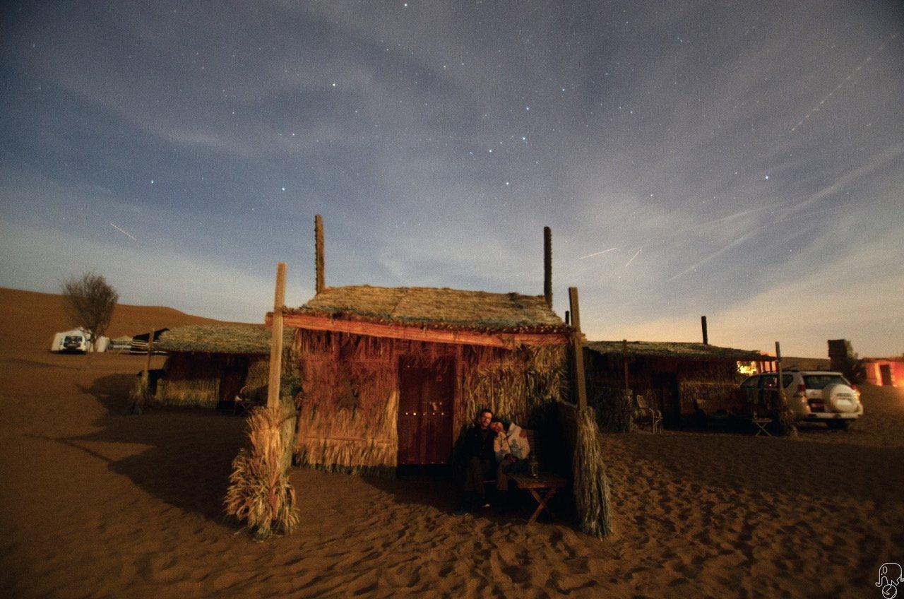 Oman notte nel deserto